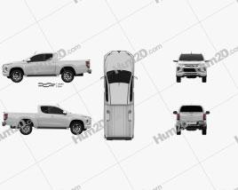 Mitsubishi Triton Club Cab 2019 car clipart