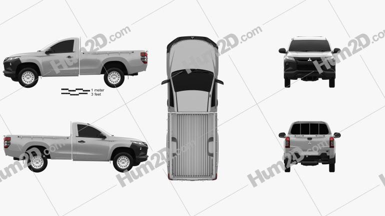 Mitsubishi Triton Single Cab 2019 car clipart