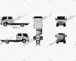 Mitsubishi Fuso Canter (515) City Crew Cab Chassis Truck 2016 clipart