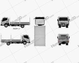 Mitsubishi Fuso Canter (515) Wide Single Cab Tray Truck 2016