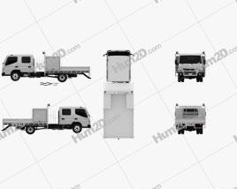 Mitsubishi Fuso Canter (815) Wide Crew Cab Service Truck 2016