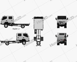 Mitsubishi Fuso Canter (FG) Wide Crew Cab Chassis Truck 2016
