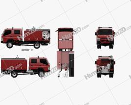 Mitsubishi Fuso Canter (FG) Wide Crew Cab Fire Truck 2016 clipart
