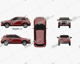 Mitsubishi ASX 2019 car clipart