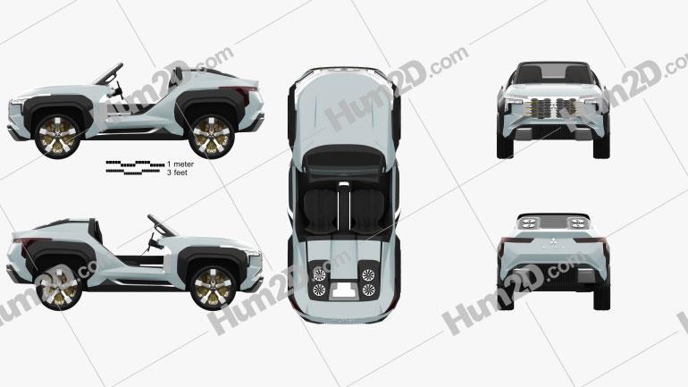 Mitsubishi MI-Tech 2019 car clipart