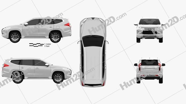 Mitsubishi Pajero Sport 2019 car clipart
