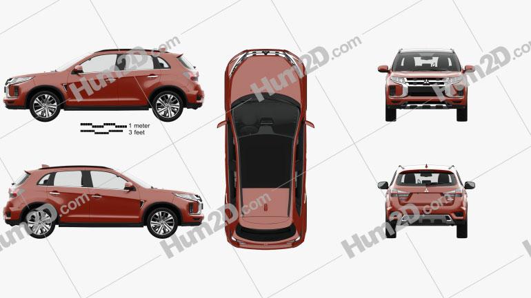 Mitsubishi ASX with HQ interior 2019 car clipart