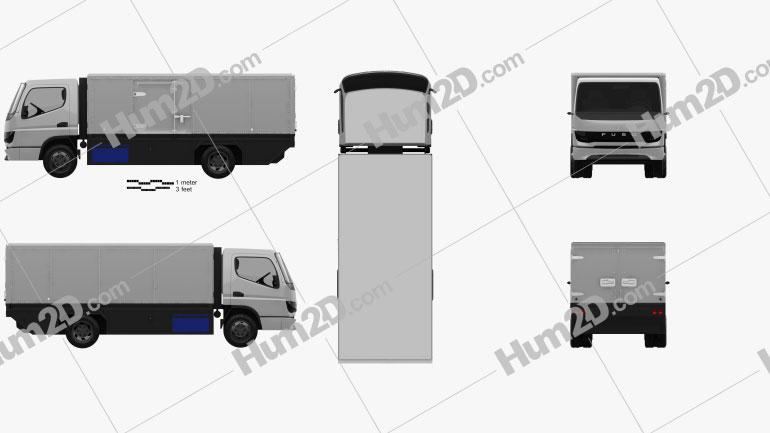 Mitsubishi Fuso Vision F-Cell Truck 2019 clipart