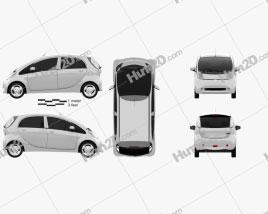 Mitsubishi i MiEV 2010 car clipart
