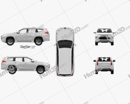Mitsubishi Pajero Sport with HQ interior 2019 car clipart