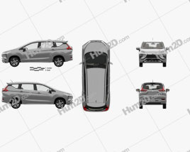 Mitsubishi Xpander with HQ interior 2017 car clipart