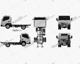 Mitsubishi Fuso Canter Wide Single Cab Chassis Truck L1 2016 clipart