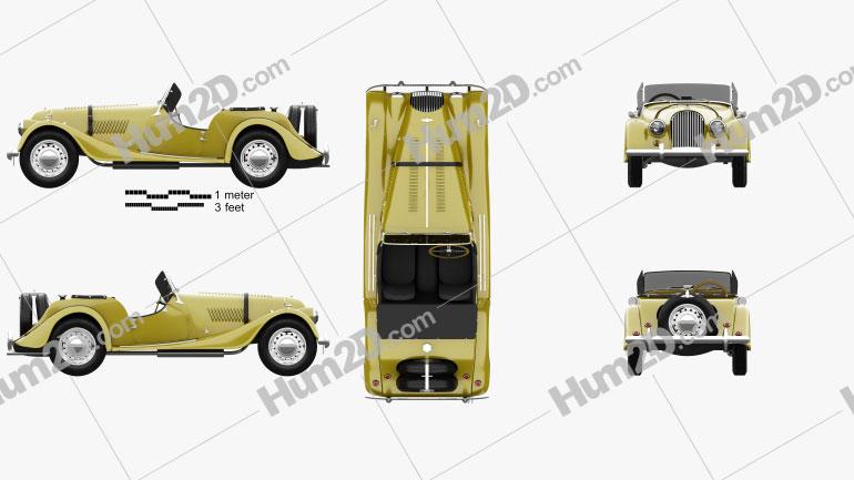 Morgan Plus 4 1954 car clipart