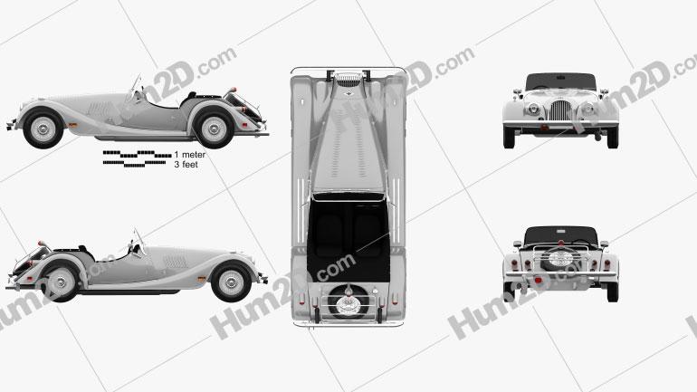 Morgan Plus 8 1968 car clipart