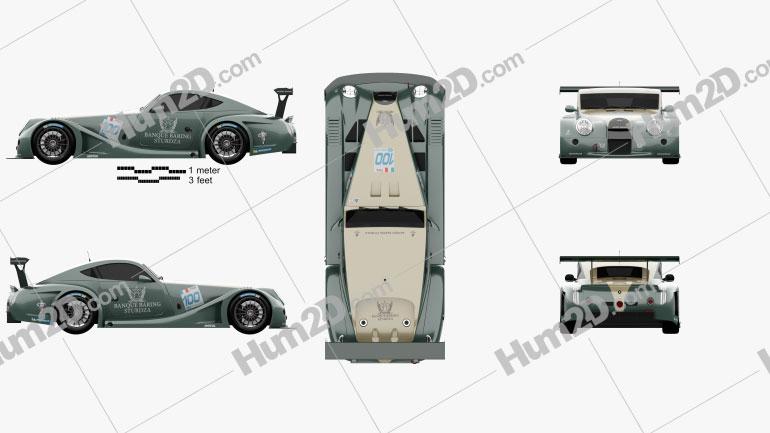 Morgan Aero 8 SuperSports GT3 2009 car clipart