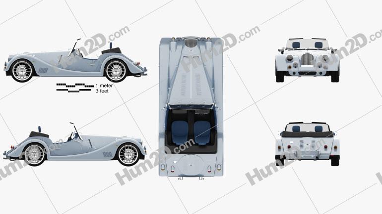 Morgan Plus Six 2020 car clipart