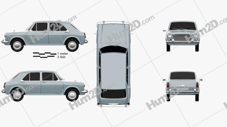 Morris 1100 (ADO16) 1962 car clipart