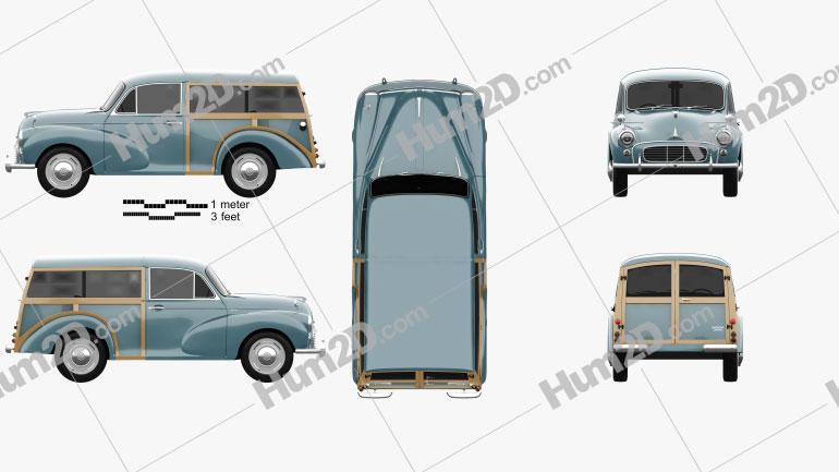 Morris Minor 1000 Traveller 1956 clipart