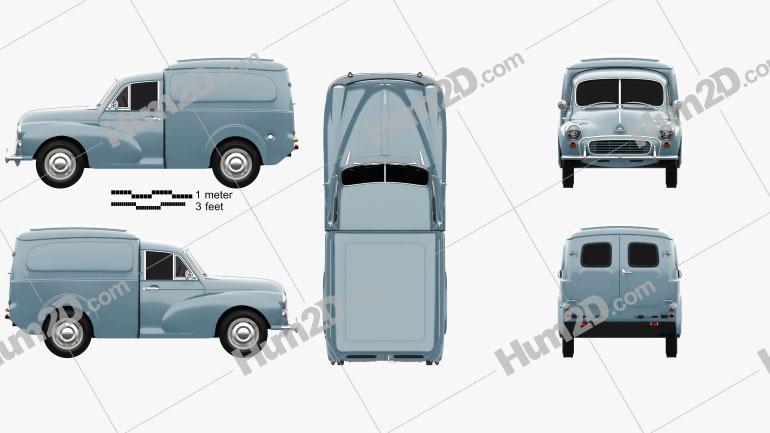 Morris Minor Van 1955 clipart