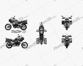 Moto Guzzi Stelvio 1200 NTX 2015 Motorcycle clipart