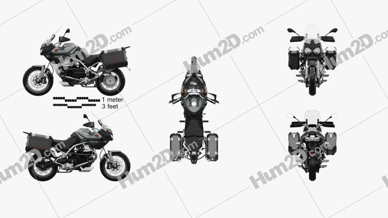 Moto Guzzi Stelvio 1200 NTX 2015 Moto clipart