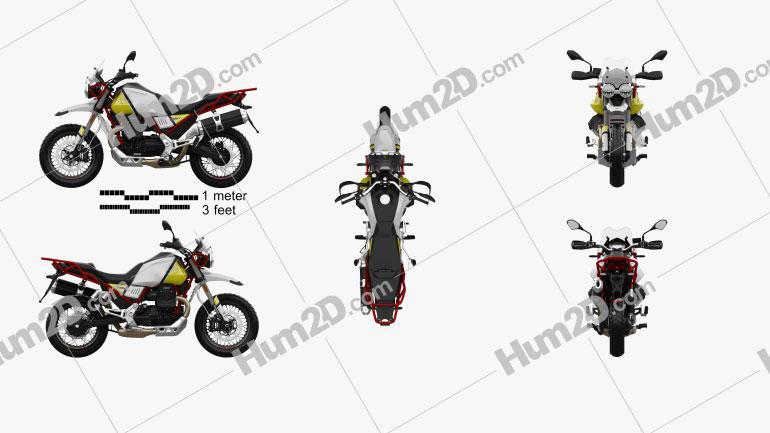 Moto Guzzi V85 Tutto Terreno 2019 Motorcycle clipart