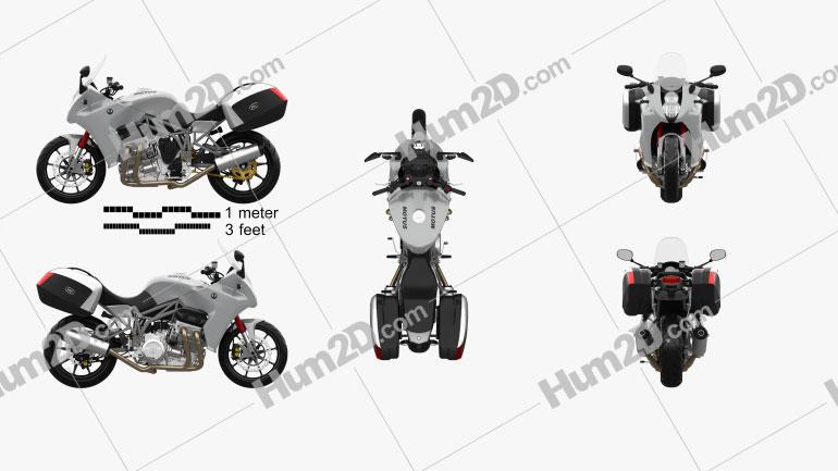 Motus MST Tourer 2014 Motorcycle clipart