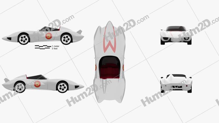 Speed Racer Mach 5 1997 car clipart