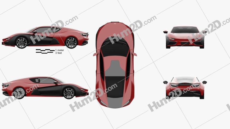 Mullen Qiantu K50 2019 car clipart