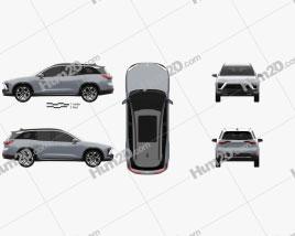 Nio ES8 2018 car clipart