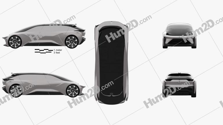 NIO EVE 2018 car clipart