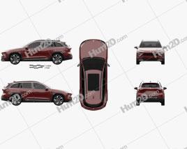 NIO ES6 2019 car clipart