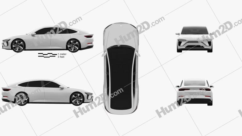 NIO ET Preview 2019 car clipart