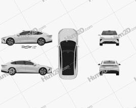 NIO ET7 2022 car clipart