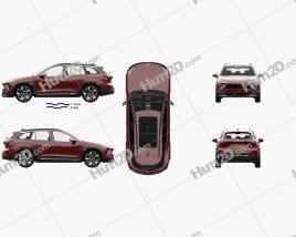NIO ES6 with HQ interior 2019 car clipart