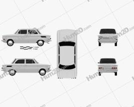 NSU Prinz 1000 1961 car clipart