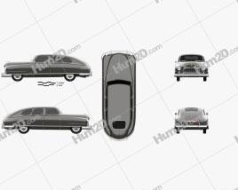 Nash Ambassador 1949 car clipart
