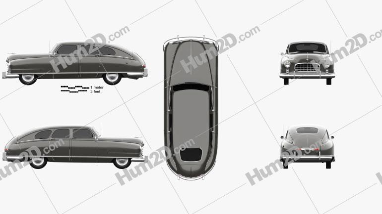Nash Ambassador 1949 Clipart Image