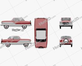 Nash Metropolitan 1956 car clipart