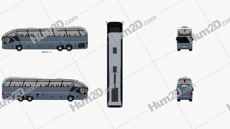 Neoplan Starliner SHD L Bus 2006 clipart