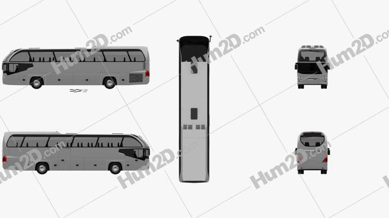 Neoplan Cityliner HD Bus 2006 clipart