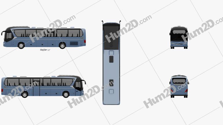 Neoplan Jetliner Bus 2012 clipart