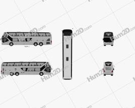 Neoplan Skyliner Bus 2010 Clipart