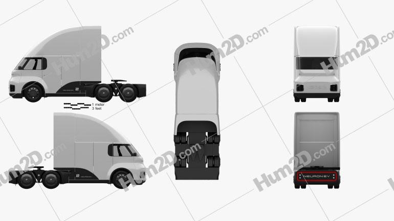Neuron EV TORQ Tractor Truck 2020