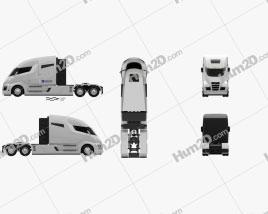 Nikola One Tractor Truck 2016 clipart