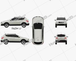 Nissan Qashqai (Dualis) 2010 car clipart