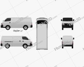 Nissan Urvan PanelVan LowRoof 2011 clipart