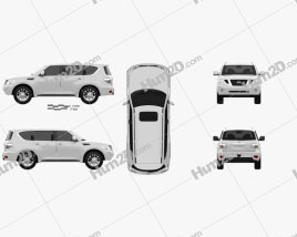 Nissan Patrol 2011 car clipart