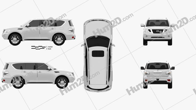 Nissan Patrol 2011 Clipart Image