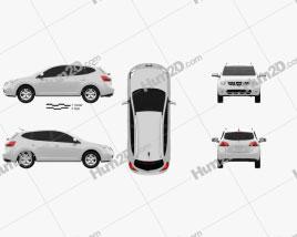 Nissan Rogue 2011 car clipart